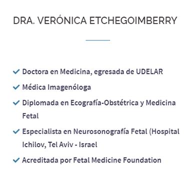 Médica imagenóloga, Especialista en Neurosonografía Fetal